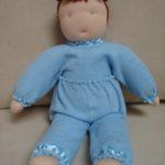 М'яка іграшка - лялька хлопчик. Зовнішній матеріал - фетр, наповнювач - вовна. Автор: Ганна Шпілька. 2007