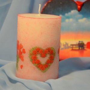 Свічки Валентинки