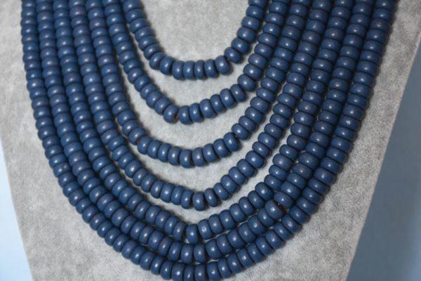 Кераміка синя кругла