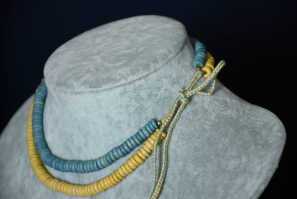 Намисто жовто-блакитне
