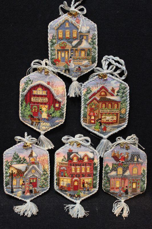 """Підвіски """"Різдвяне село"""""""
