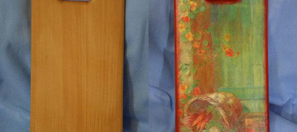 Кухонна дощечка (до та після). Техніка: декупаж. Автор: Ганна Шпілька. 2013