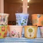 Горщечки для квітів. Автор: Ганна Шпілька. 2012